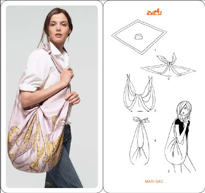 Hermes - How To Fold and Tie a Scarf