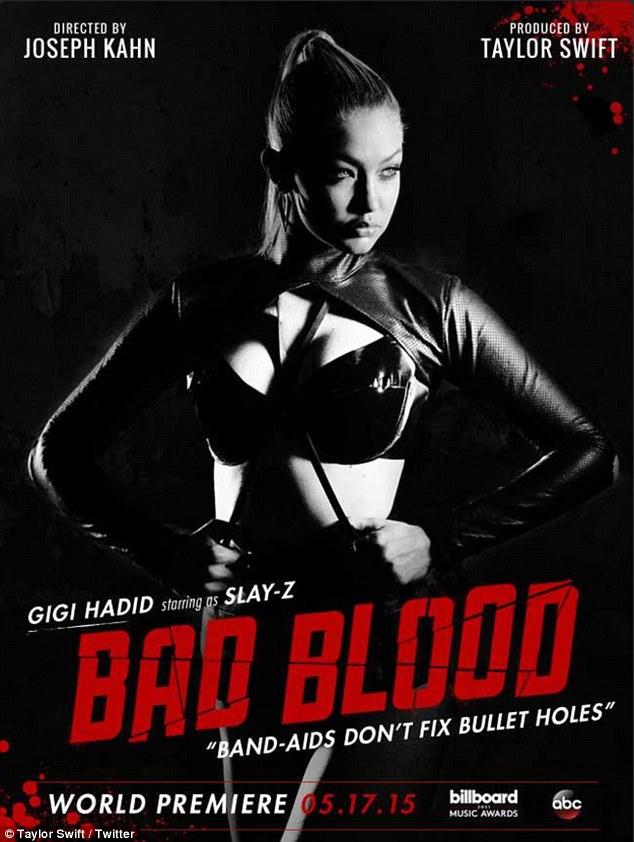 Gigi Hadid as 'Slay-Z' Taylor Swift's Bad Blood
