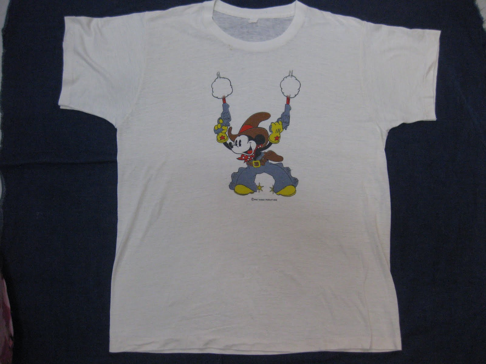 70's MICKY MOUSE            「DOUBLE GUN」           PRINTED Tee SHIRTS