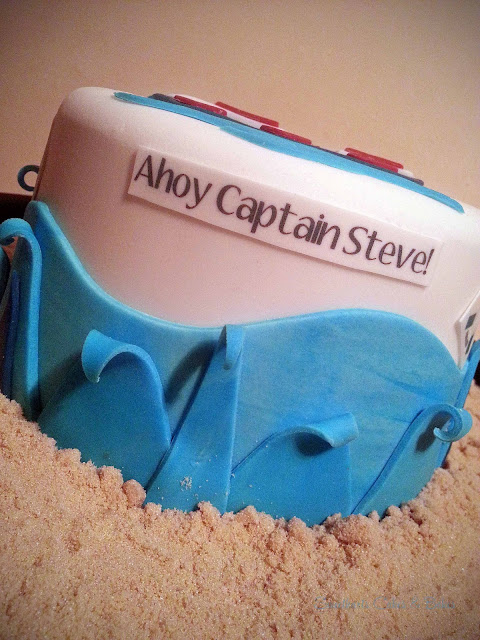 nautical theme boat cake