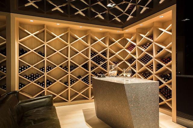 Wooden wine cellar