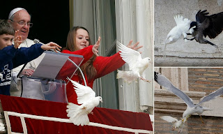 pope and doves