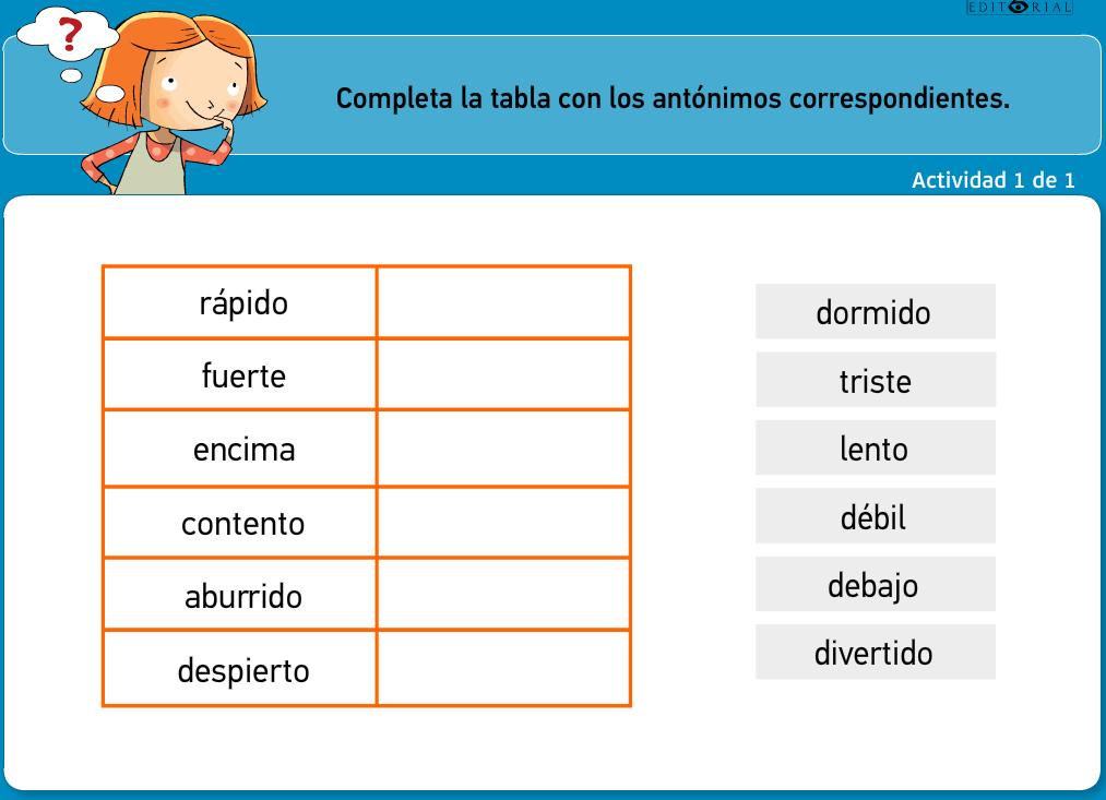 http://www.primerodecarlos.com/TERCERO_PRIMARIA/archivos/actividades_tilde_tercero/5/los_antonimos.swf
