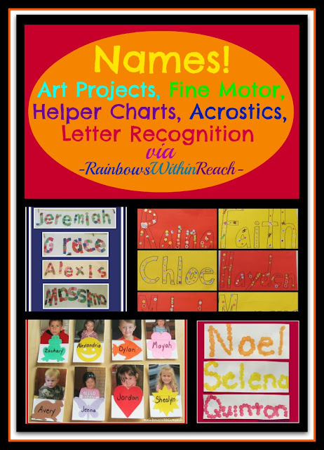 photo of: Using Student's Name in Art Projects, Name in fine motor in Preschool