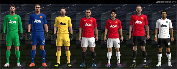 PES 2012 Manchester United 2012/13 Kits FIX by Dark Nero