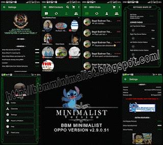 BBM Mod Minimalist Oppo Versi 2.9.0.51 + Stiker
