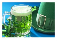 green beer and party hats