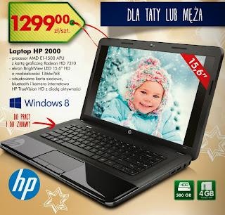 Laptop HP 2000 z Biedronki ulotka