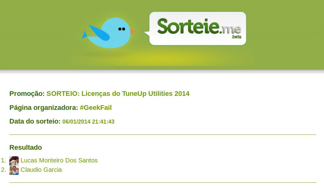 sorteio licencas tuneup utilities 2014