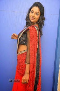 Amitha-Rao-Stills-in-Saree-at-Chandamama-Kathalu-Movie-Logo-Launch
