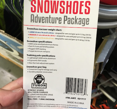 Don't miss out on the winter with the Yukon Charlie Snowshoes Adventure Package