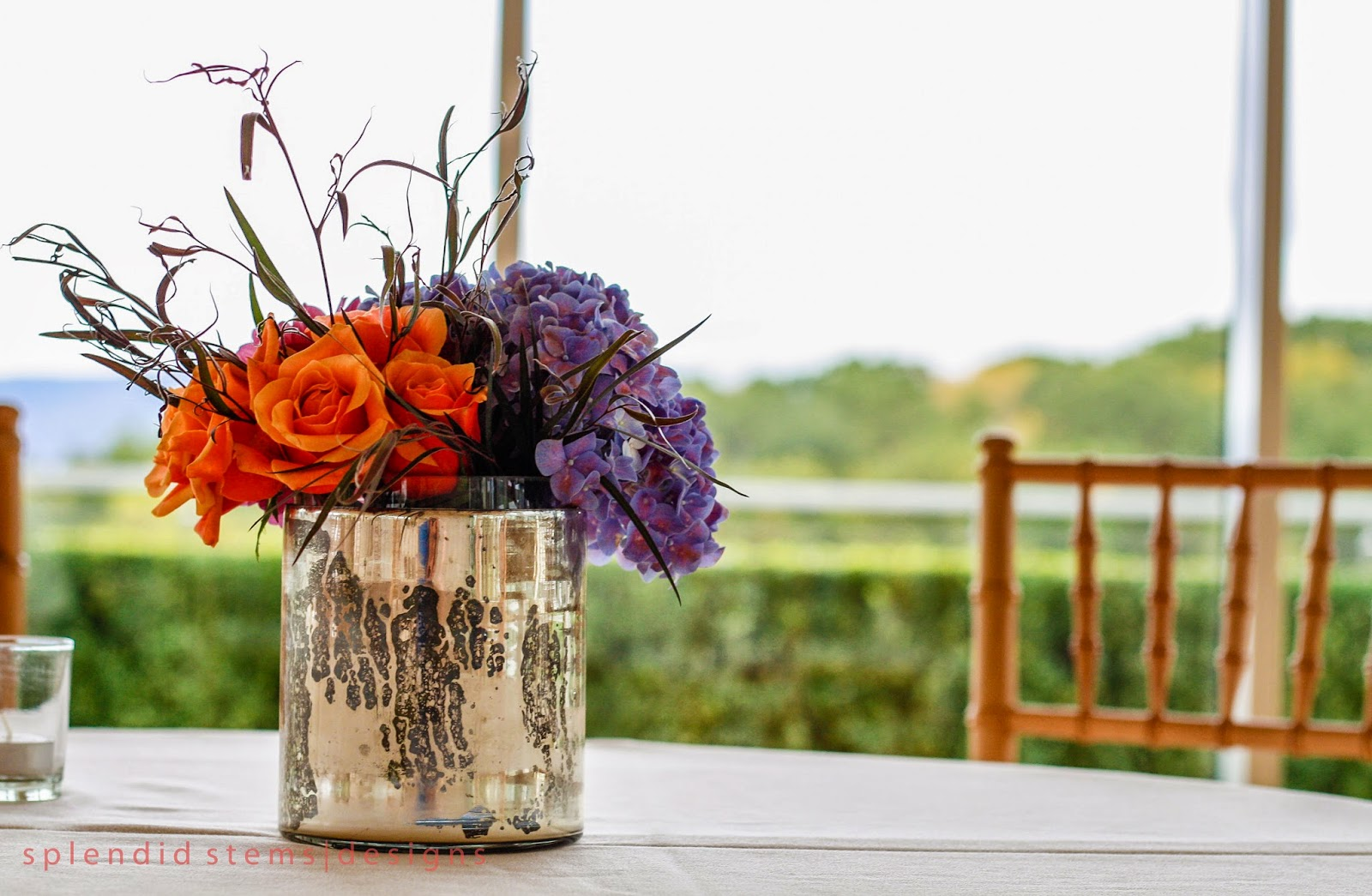 The Garrison Wedding Flowers - Cocktail Hour Decor - Hudson Valley Weddings - NY Weddings