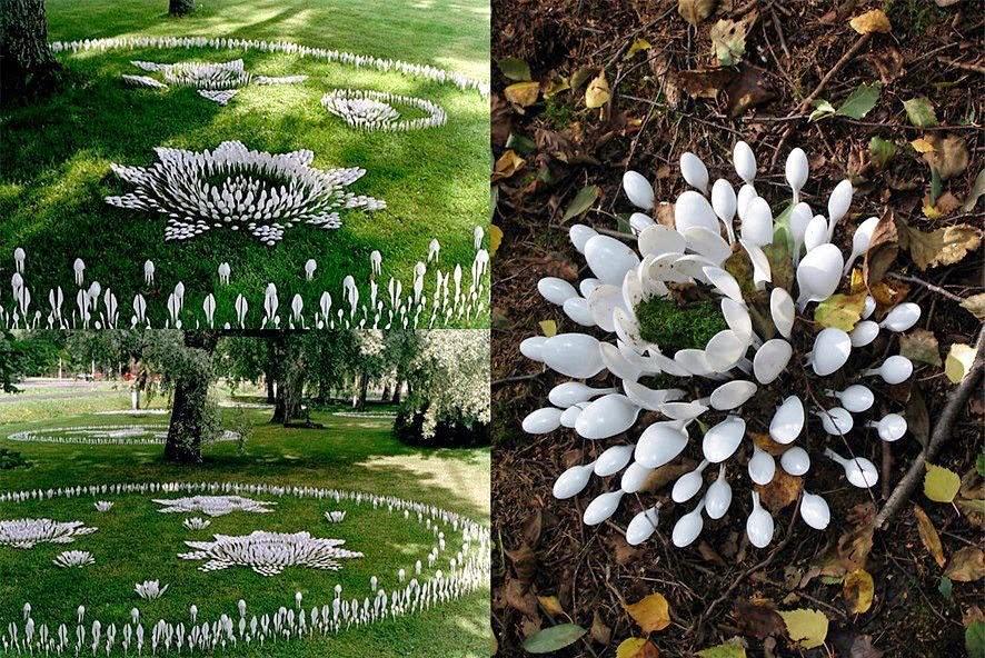 Dise o y arte con materiales reciclados i parte for Jardines reciclados