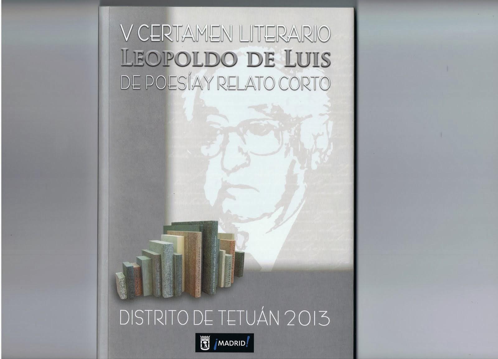 V Certamen Literario Leopoldo de Luis de Poesía y Relato Corto