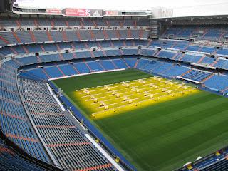 Vista do Estádio Santiago Bernabeu em Madrid