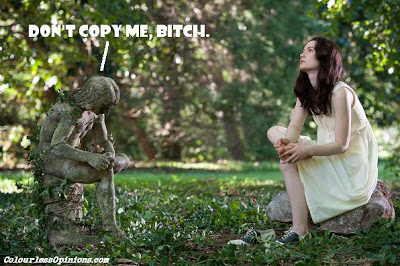 Stoker statue Mia Wasikowska as India meme