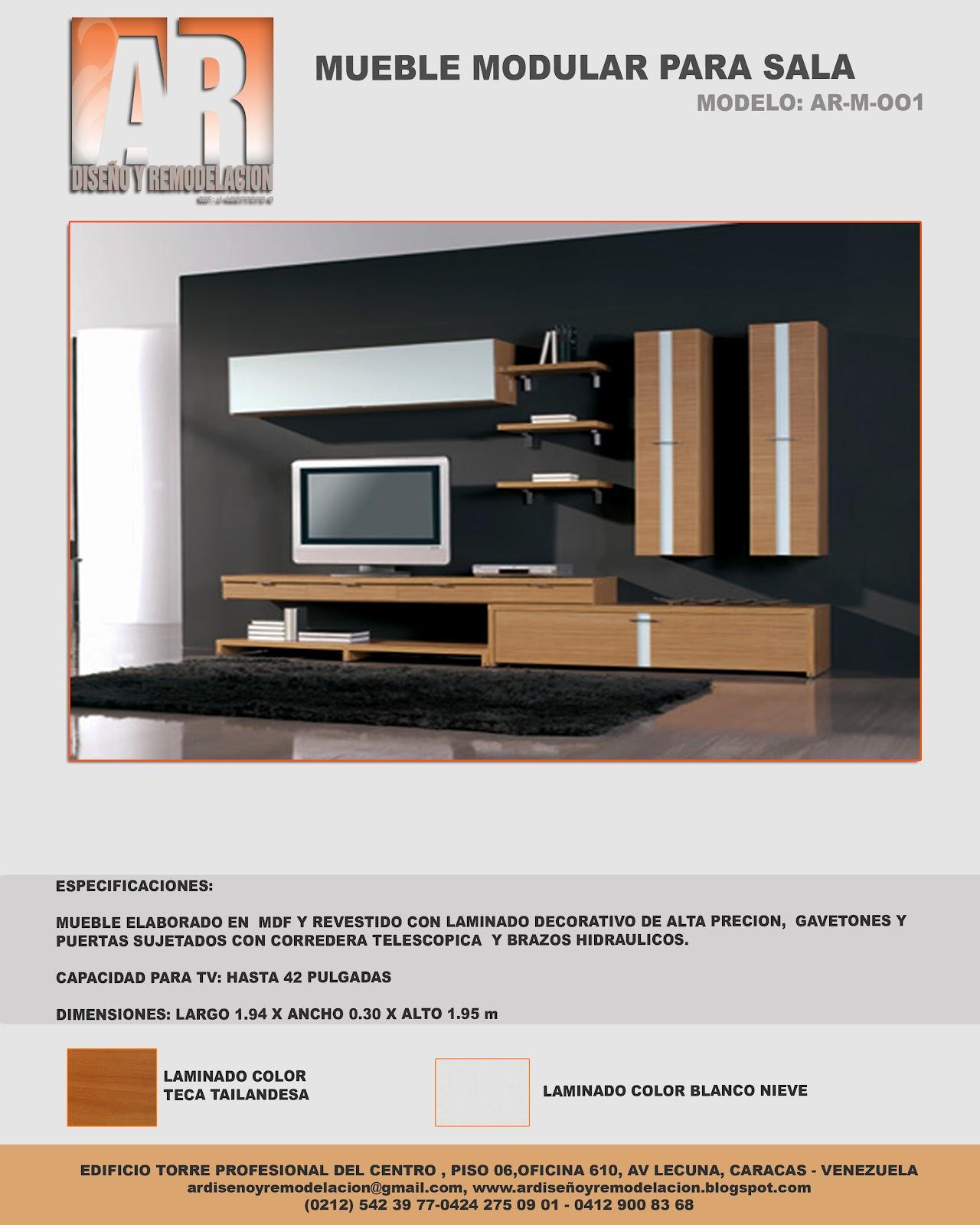Ar dise o y remodelaci n muebles modulares para sala for Diseno de muebles modulares