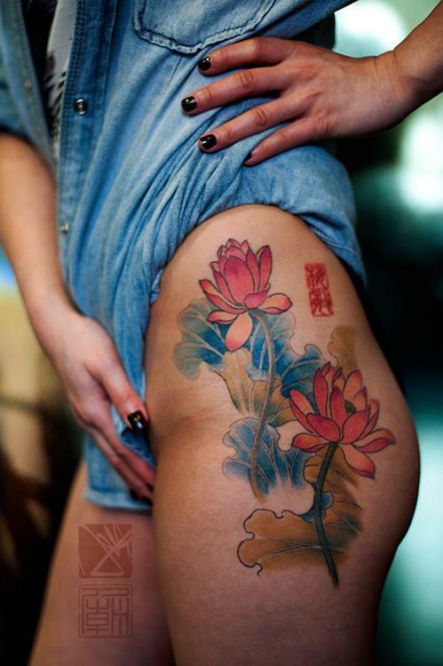 flower tattoo Asian