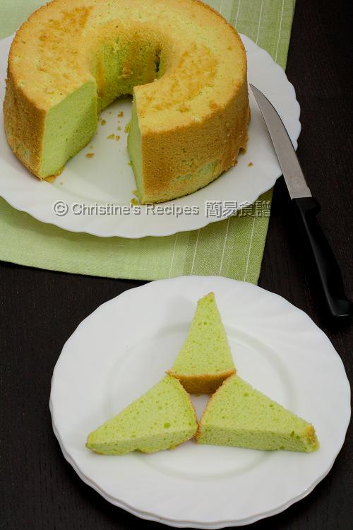 班蘭戚風蛋糕 Pandan Chiffon Cake01