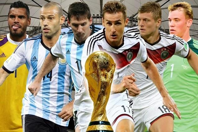 Prediksi Skor (Line-Up) Jerman vs Argentina Final Piala Dunia (Senin, 14 Juli 2014)