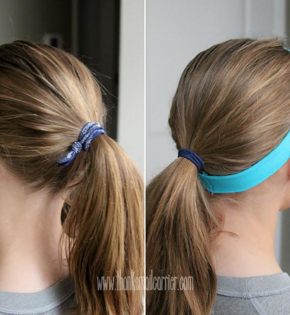 girls ponytails