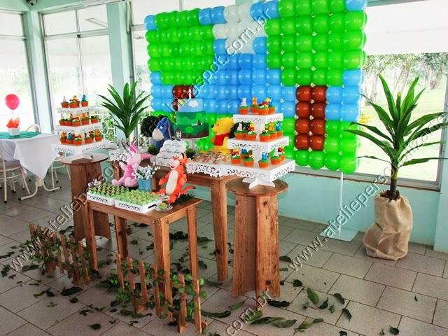 decoracao festa infantil ursinho pooh provençal