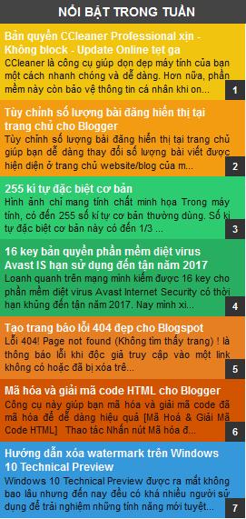 Tạo Popular Posts Widget có số đếm đẹp cho blogger