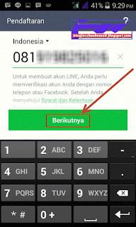 langkah mendaftar line  baru