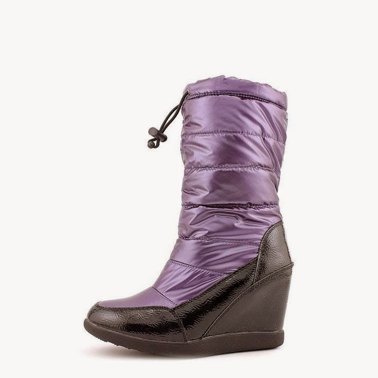 Cougar quilted high heel snowboot