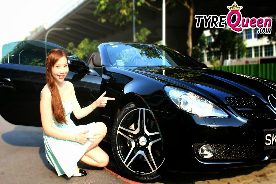 Sara Shantelle Lim's Mercedes SLK Convertible Sports Car