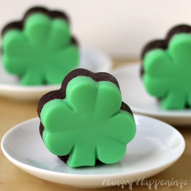 Creme de Menthe Fudge Shamrocks
