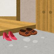 玄関のイラスト(室内風景)
