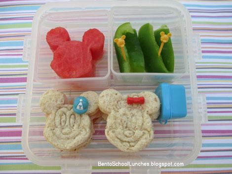 Bento School Lunches : Bento Lunch: Mickey & Minnie Bento