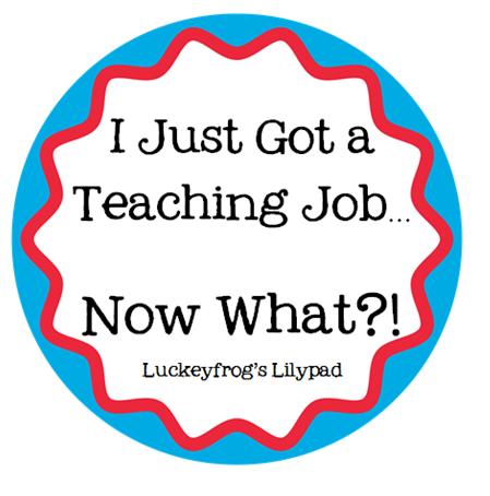 Luckeyfrog's Lilypad: New Teacher Tips