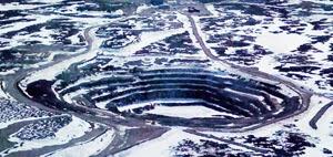 Jericho Diamond Mine pit, Nunavut, Canada