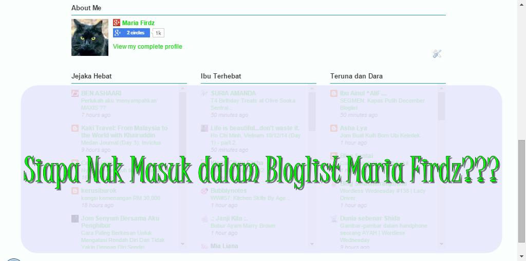 Pencarian Bloglist Maria Firdz