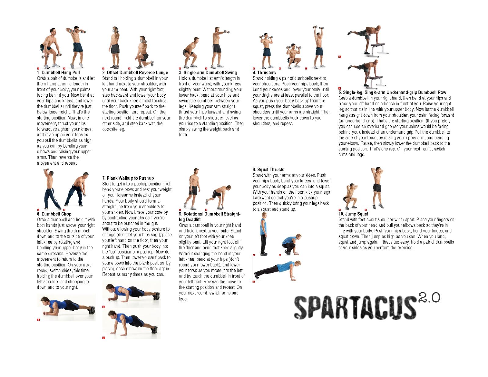 spartacus workout 2014