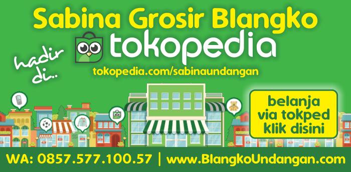 Sabina Grosir Blangko Hadir Di Tokopedia