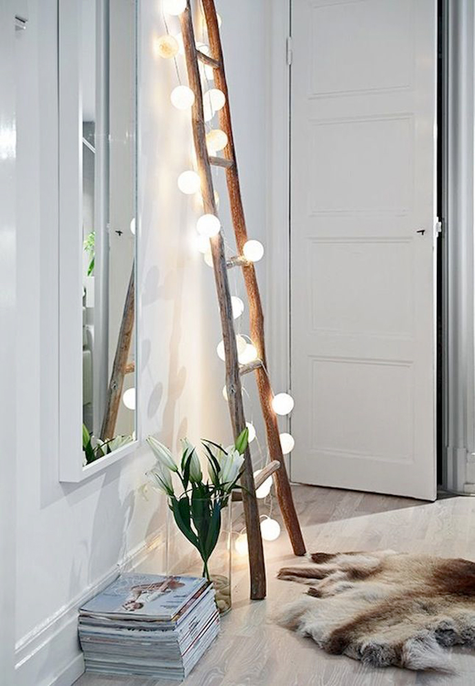 How to decorate home with lights via www.fashionedbylove.co.uk