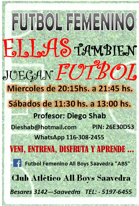Fútbol Femenio All Boys De Saavedra