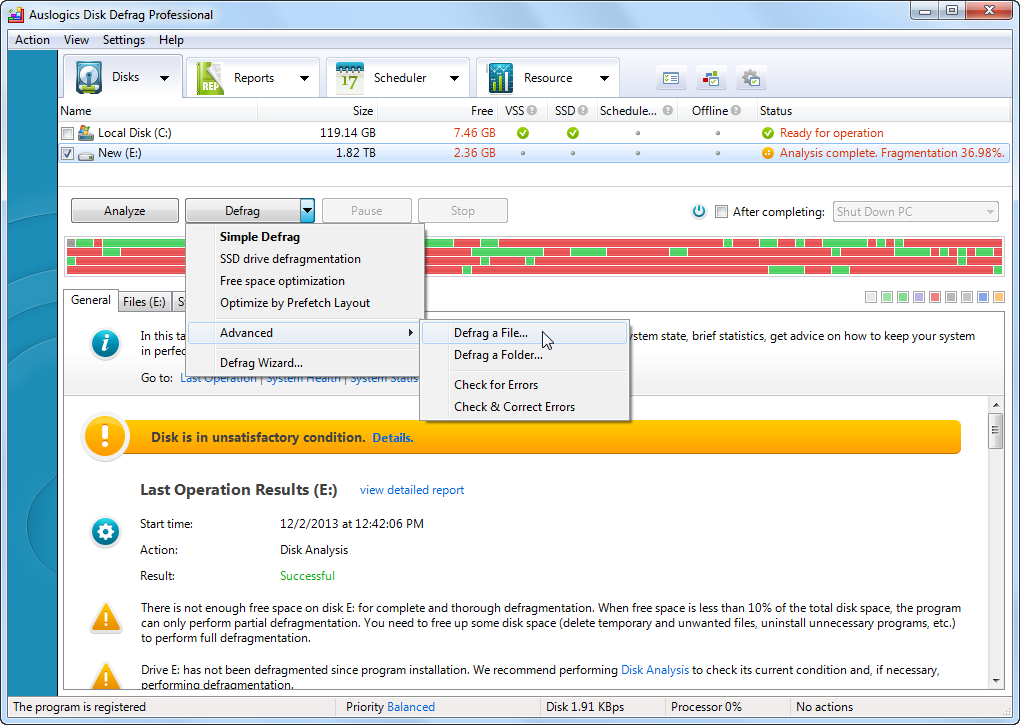 Auslogics Disk Defrag Professional v4.3.2 Full version + Serial Number
