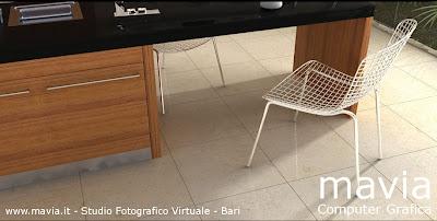 Arredamento di interni pavimento cucina fotografie for Cucina moderna grigio chiaro