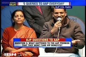 BJP' s five questions