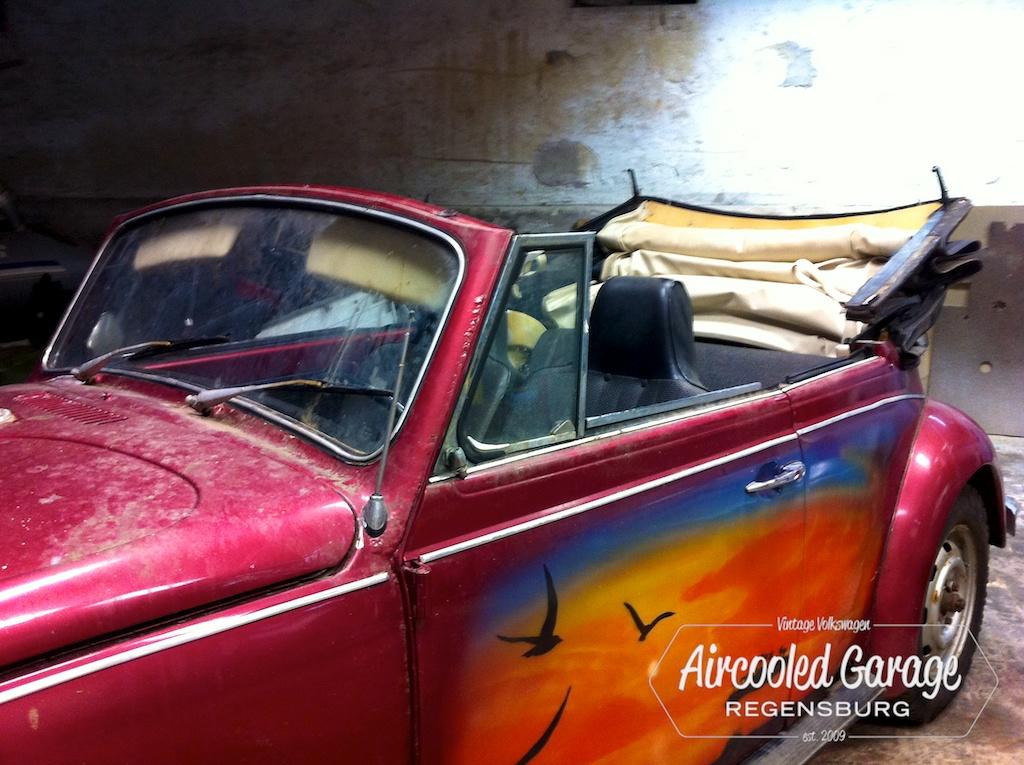 aircooled garage 1302 cabrio los geht s. Black Bedroom Furniture Sets. Home Design Ideas