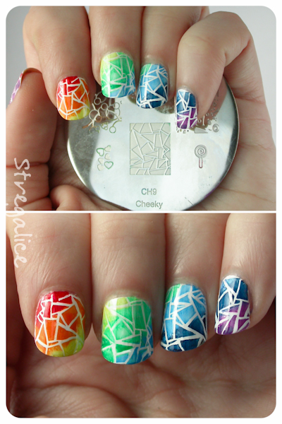 rainbow stamping