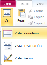 vista diseño de formulario