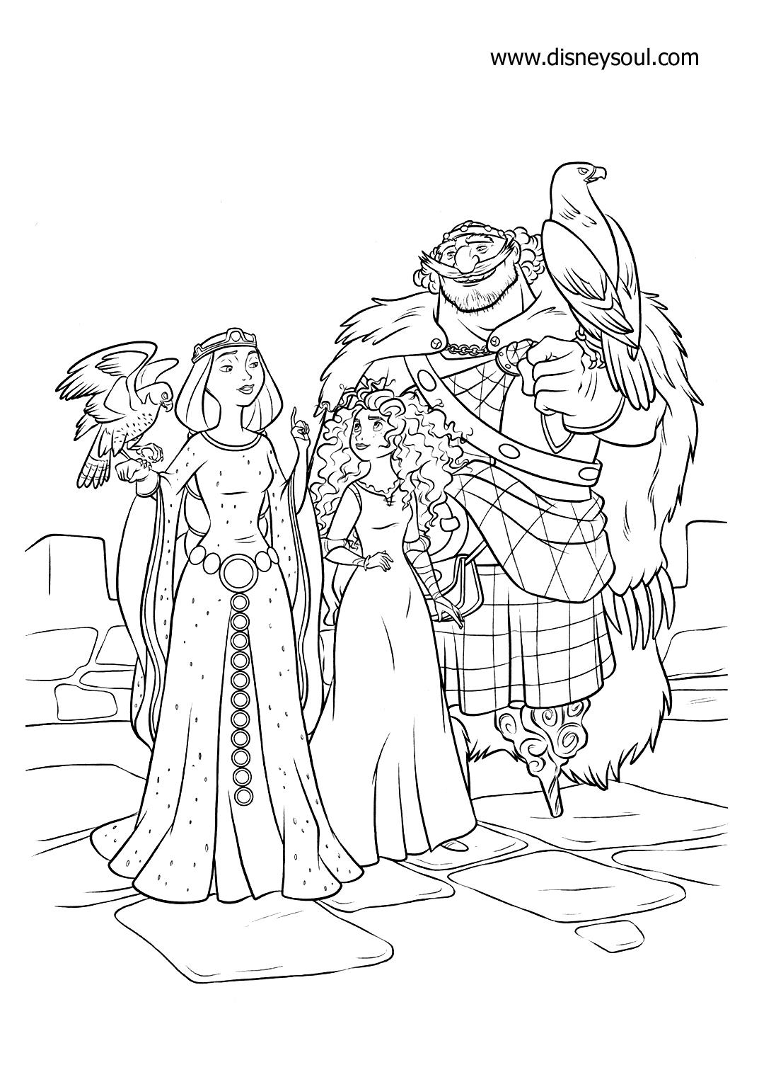 Disney Soul Dibujos para colorear de Brave Indomable  Valiente
