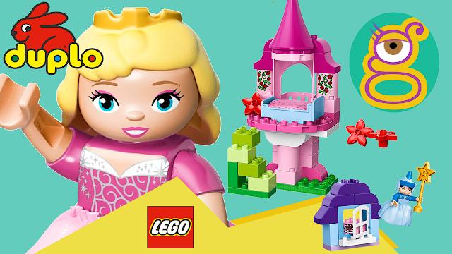 Video del Cuento del castillo de la Bella durmiente Aurora de lego duplo Sleeping Beauty