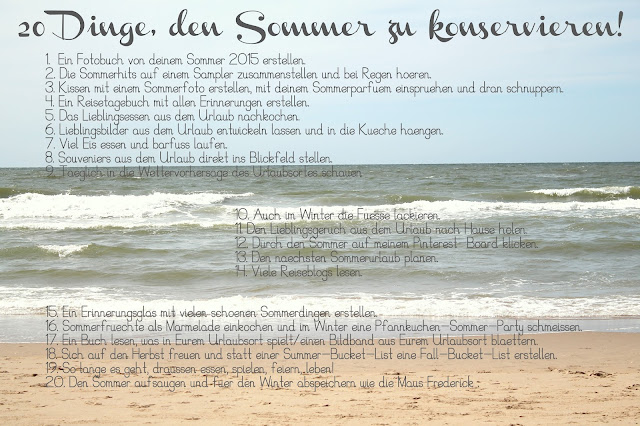 Freebie Sommer-Konservierungs-Liste