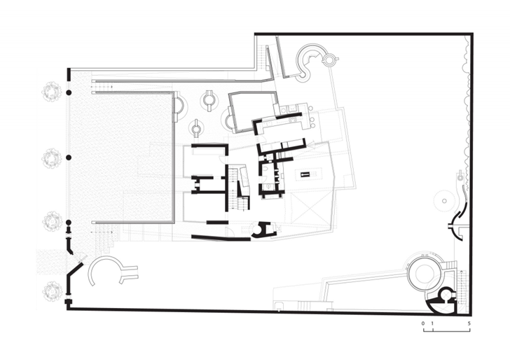 First floor plan of Extreme modern house by Longhi Architects